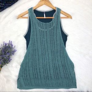 Anthropologie Knit Tank Top Green Size XS